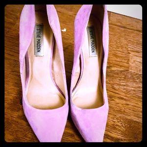 Steve Madden purple felt heels